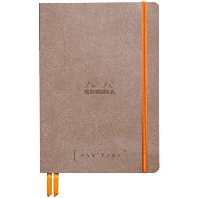 Cahier à Points A5 Rhodia GoalBook - Taupe