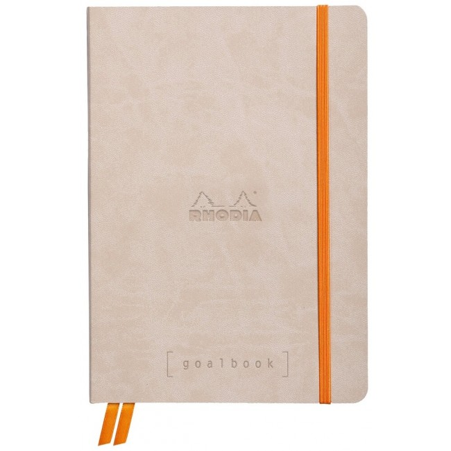 Cahier à Points A5 Rhodia GoalBook - Beige