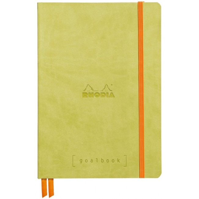 Cahier à Points A5 Rhodia GoalBook - Anis