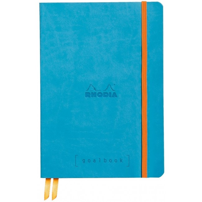 Cahier à Points A5 Rhodia GoalBook - Turquoise