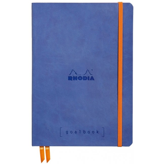 Cahier à Points A5 Rhodia GoalBook - Saphire