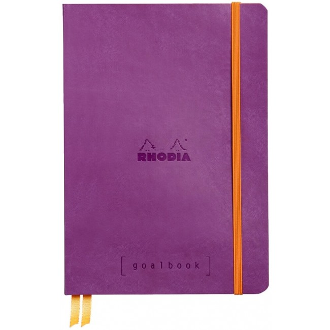 Cahier à Points A5 Rhodia GoalBook - Violet