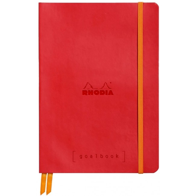 Cahier à Points A5 Rhodia GoalBook - Coquelicot