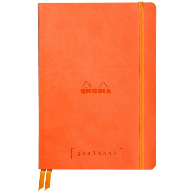 Cahier à Points A5 Rhodia GoalBook - Tangerine