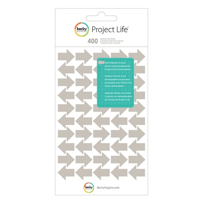 Project Life Flèches Gris -40% PROMO