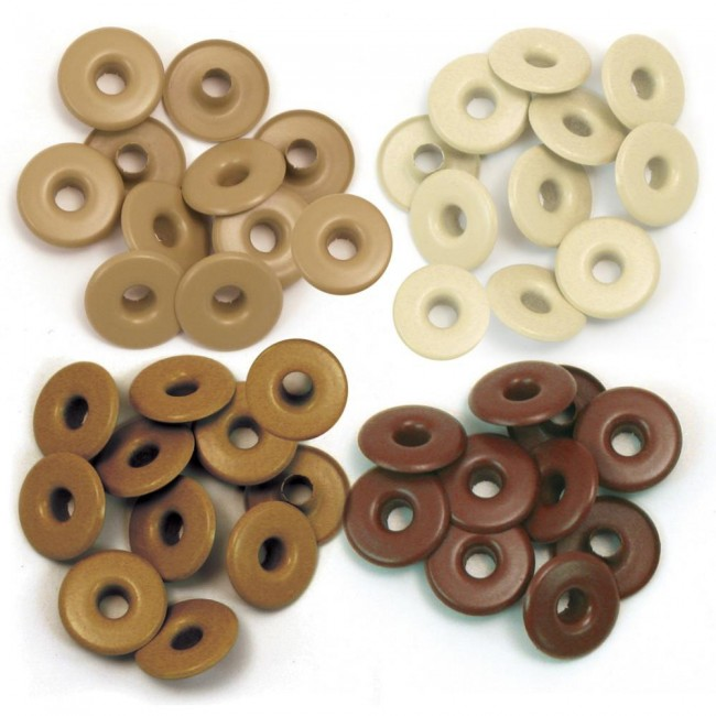 40 Eyelets Marrons grands 5 mm