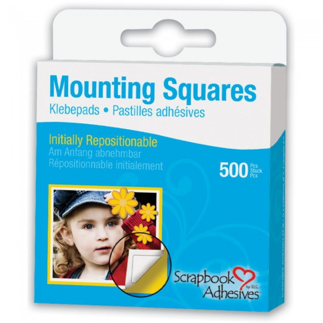 500 Mounting Squares Repositionnable