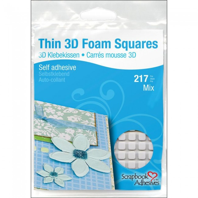 217 Thin Mix white Foam Squares