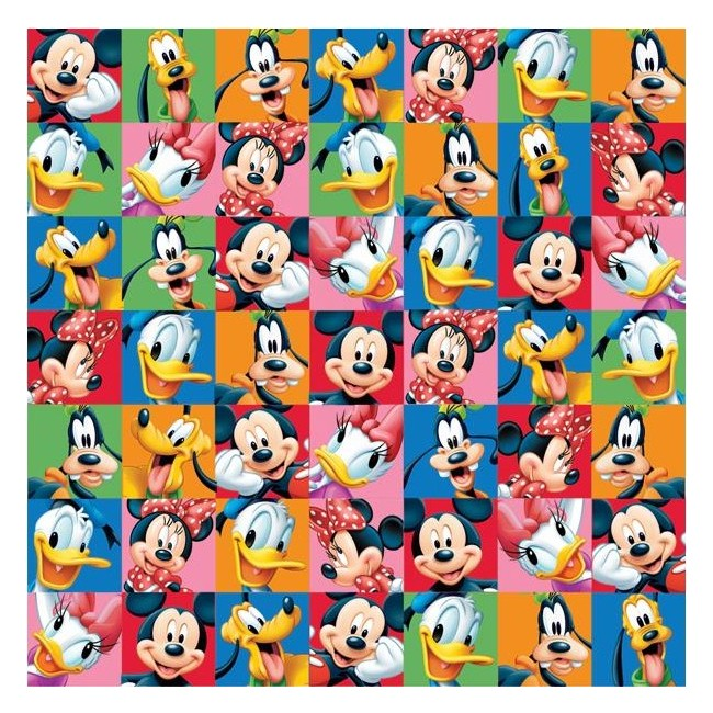 Papier Imprimé Recto 12x12 - Disney - Mickey & Friends Portraits