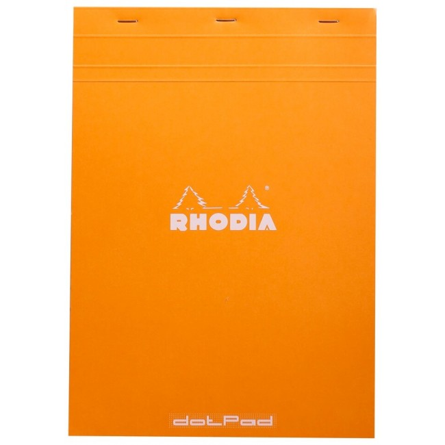 Cahier à Points A4 Rhodia Dotpad - n.18 Orange