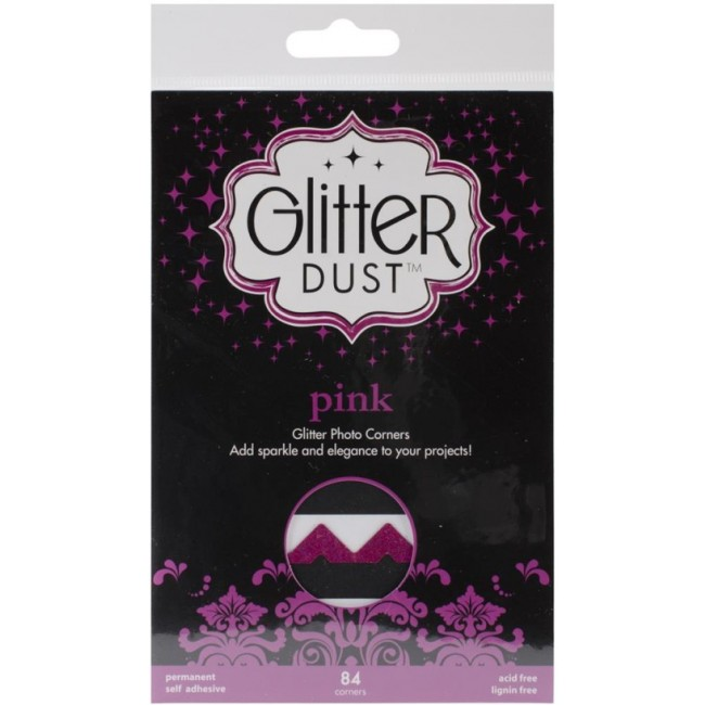 84 Coins Photos Glitter Dust Pink
