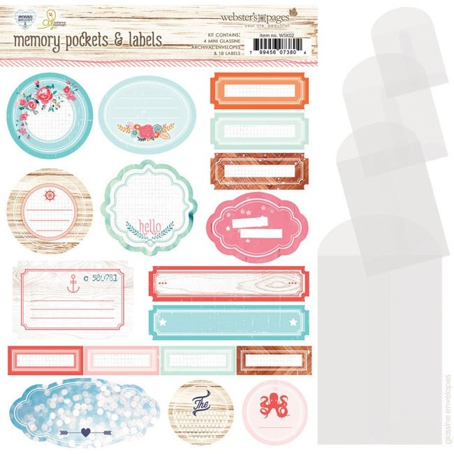 Ocean Melody Memory Pockets & Labels
