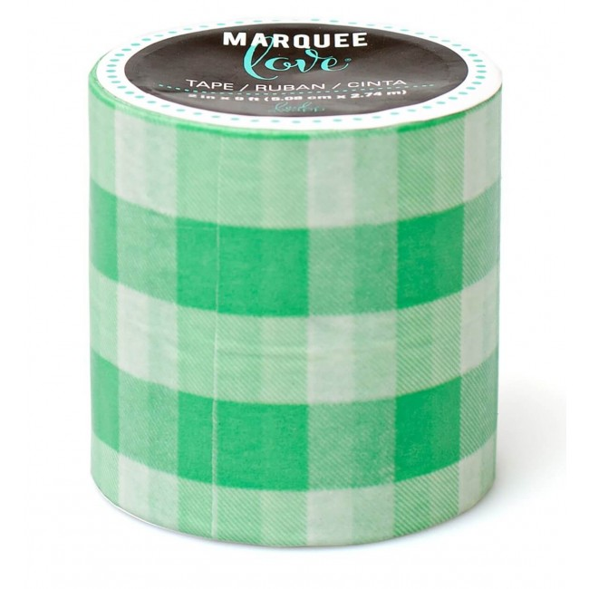 Washi Tape Marquee Love XL Mint Gingham