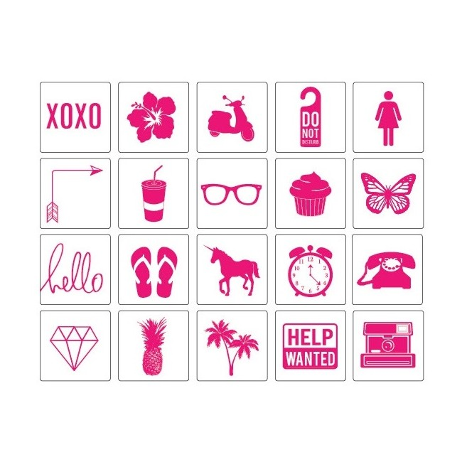 Pink Icons Lightbox