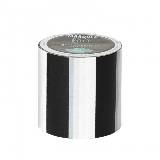 Washi Tape Marquee Love XL Glitter - Black Stripe