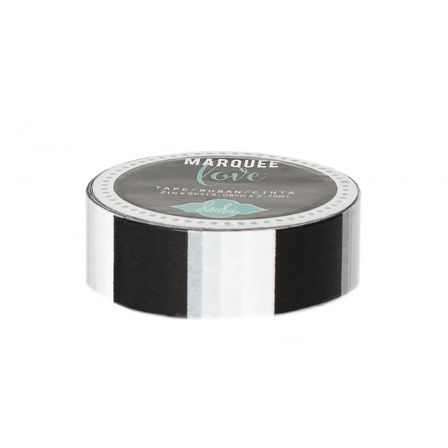 Washi Tape Marquee Love S Glitter - Black Stripe