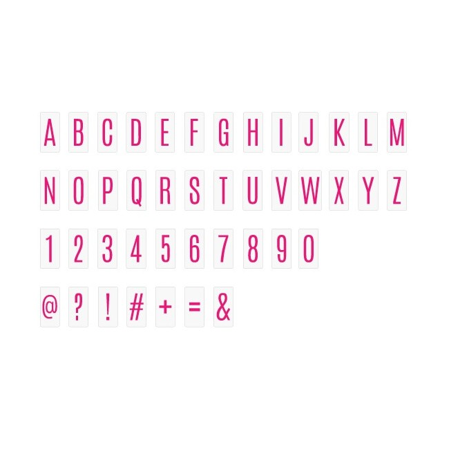Inserts Lightbox - Mini Alphabet/Pink