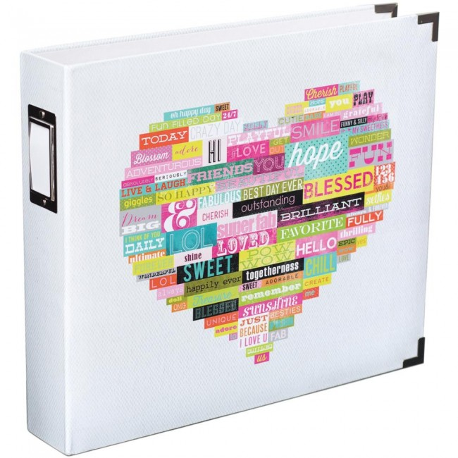 Album 12x12 Heidi Swapp - Word Heart