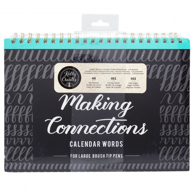 Cahier d'exercices Lettering Kelly Creates Connexions Grand Pinceau Calendrier 142 pages