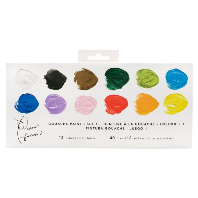 Lot de Gouache Paper Fashion Set 1