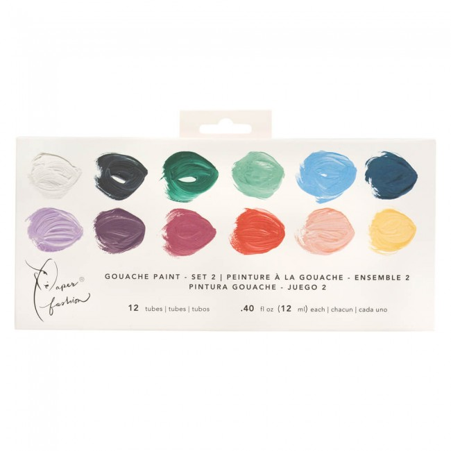 Lot de Gouache Paper Fashion Set 2