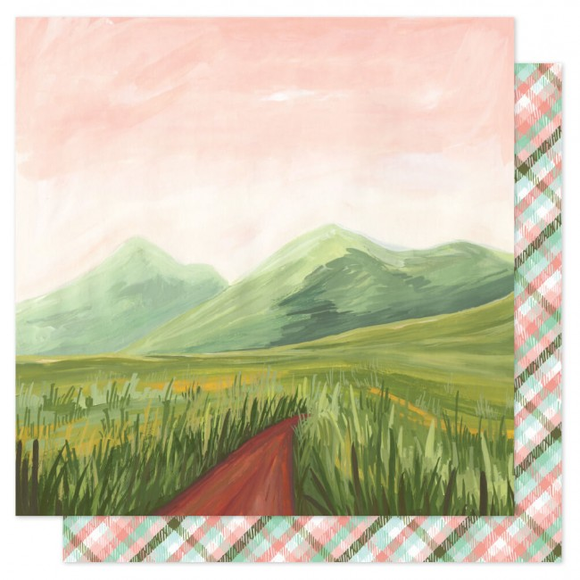 Papier Imprimé Recto-verso 12x12 Saturday Afternoon Mountain Path