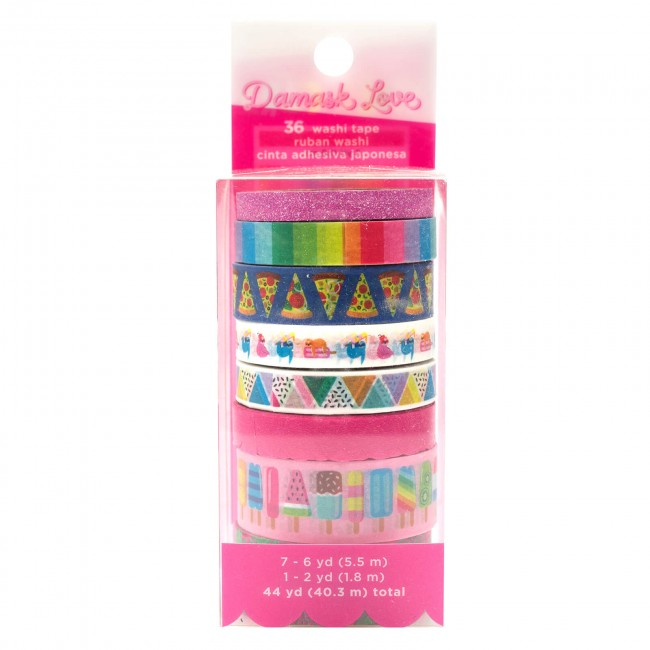 Lot de Washi Tape Wild Card Damask Love POW