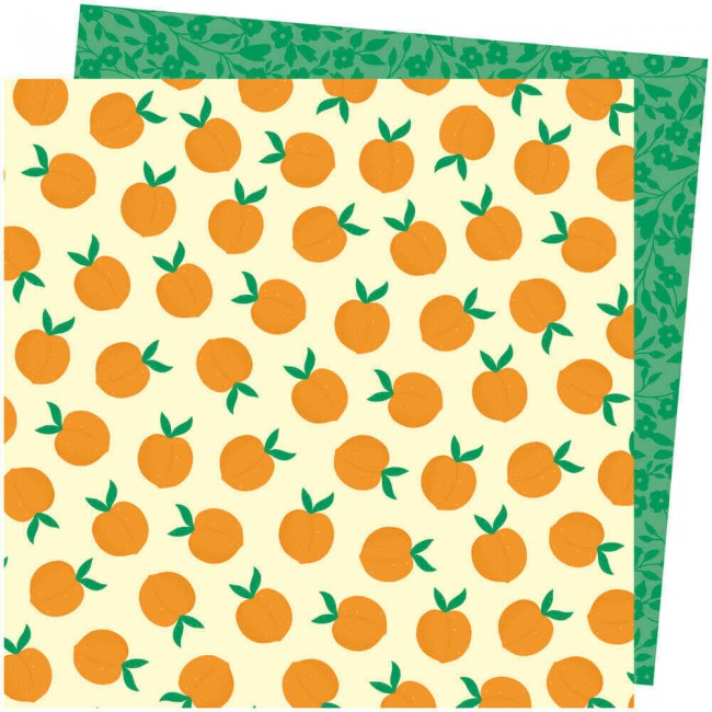 Papier Imprimé Recto-verso 12x12 Picnic In The Park Amy Tangerine You're Peachy