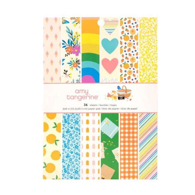 Stack Papiers Imprimés Recto 6x8 Picnic In The Park Amy Tangerine