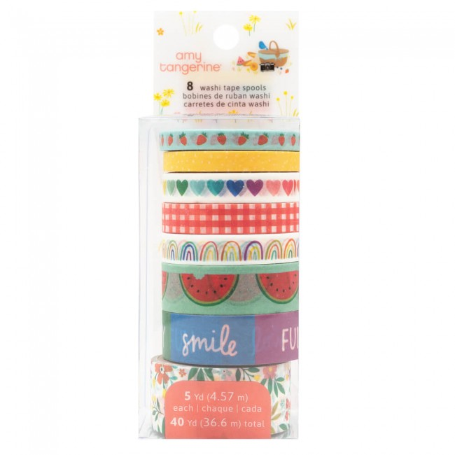 Lot de Washi Tape Picnic In The Park Amy Tangerine