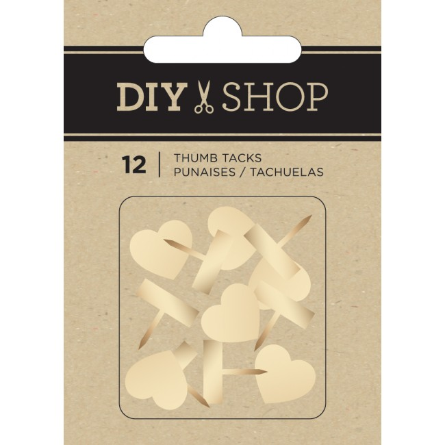 Gold Hearts Thumb Tacks DIY Shop 3
