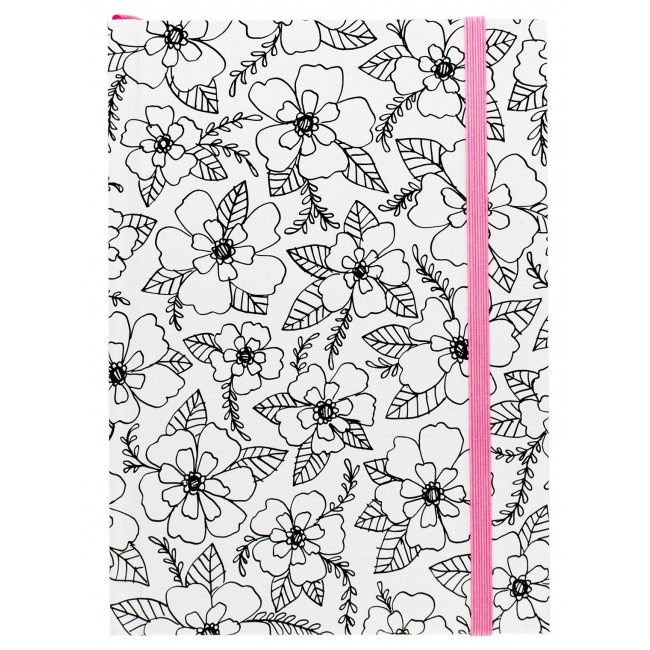 "Floral Pink Small Notebook 5"" x 7"""