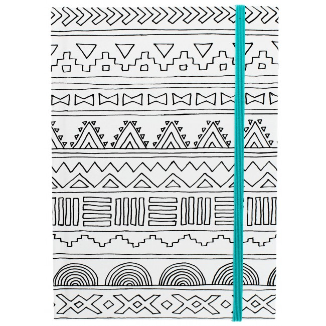 "Tribal Teal Small Notebook 5"" x 7"""