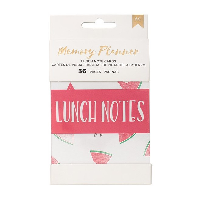 Cartes Memory Planner - Small Lunch Notes