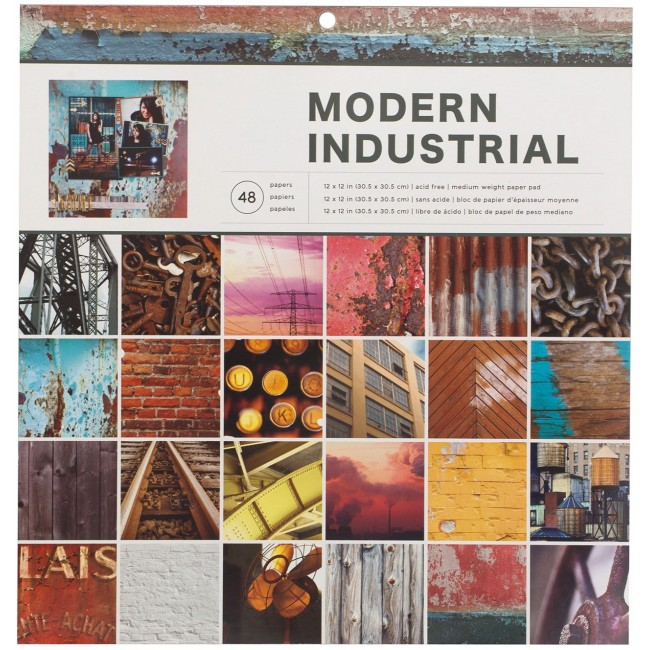 Stack Papiers Imprimés 12x12 Photo Real Modern Industrial