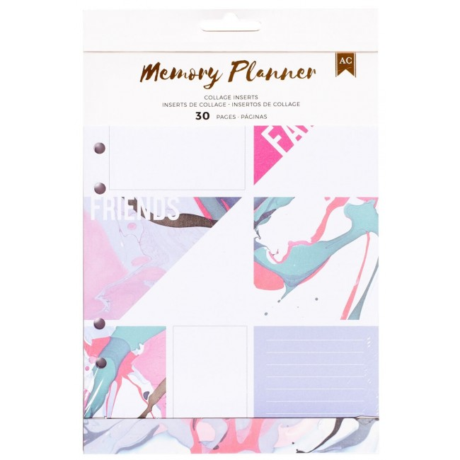 Inserts/collage Memory Planner - Marble Crush