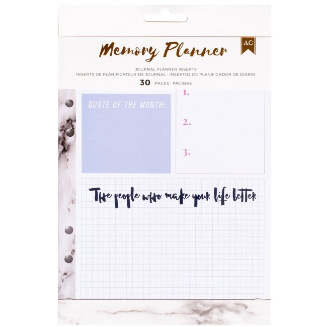 Inserts/journals Memory Planner - Marble Crush