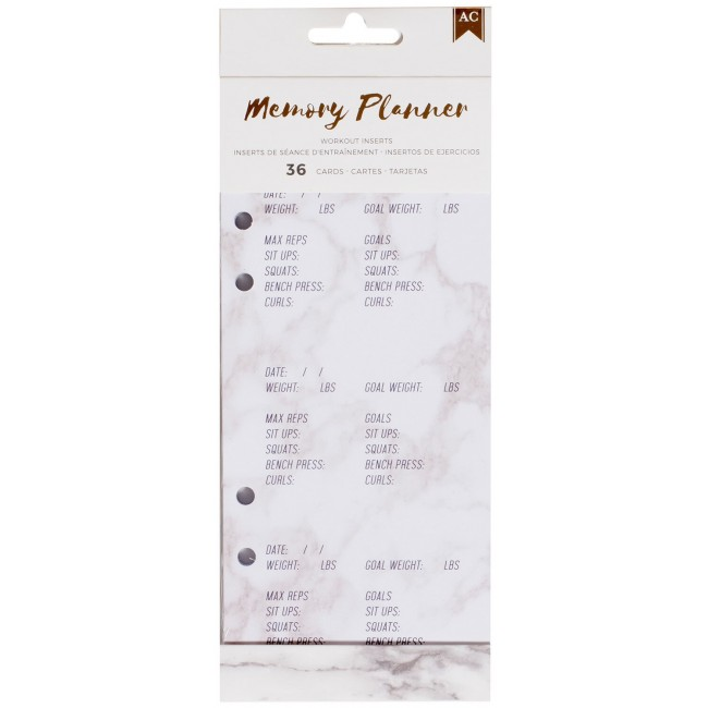 Inserts/registre d'exercice Memory Planner - Marble Crush