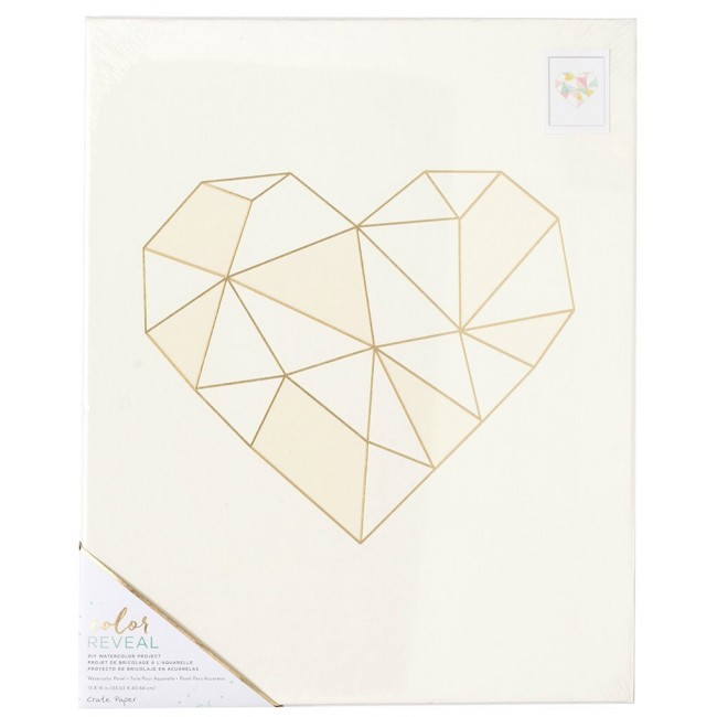 Toile 13x16 Color Reveal - Geo Heart