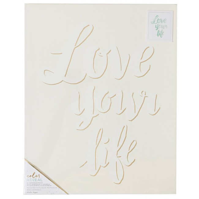 Toile 16x20 Color Reveal - Love Your Life