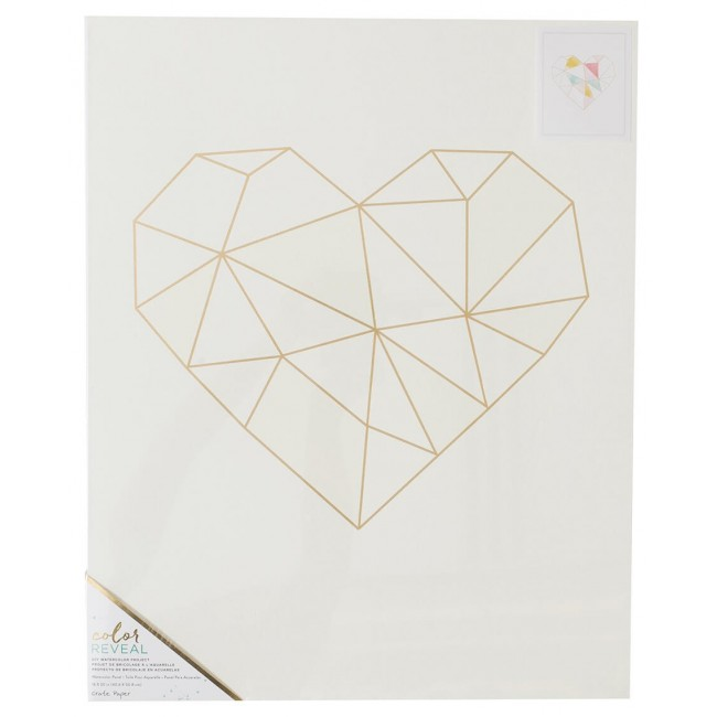 Toile 16x20 Color Reveal - Geo Heart