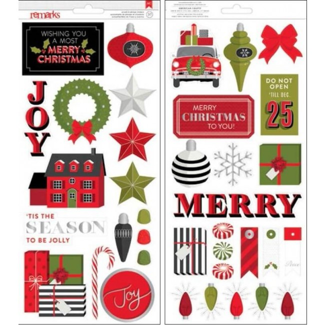 Tis The Season Accetns & Phrase Stickers