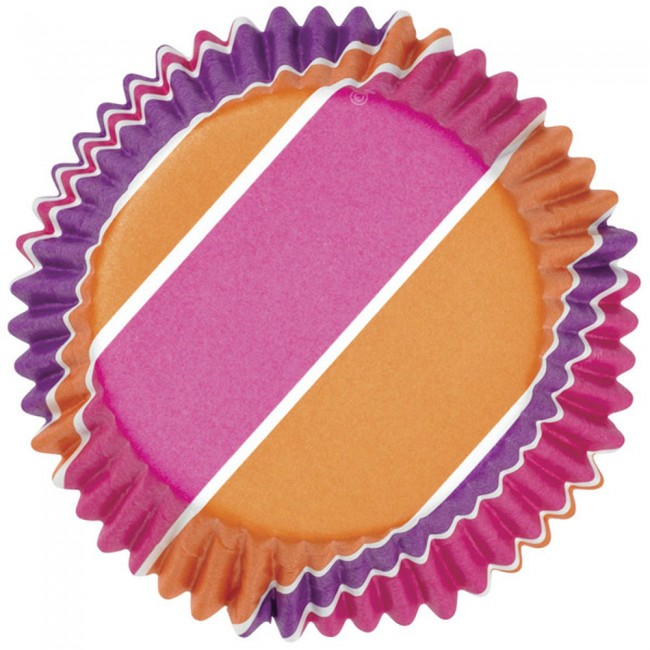 Color Cups Pink, Purple & Orange Stripes