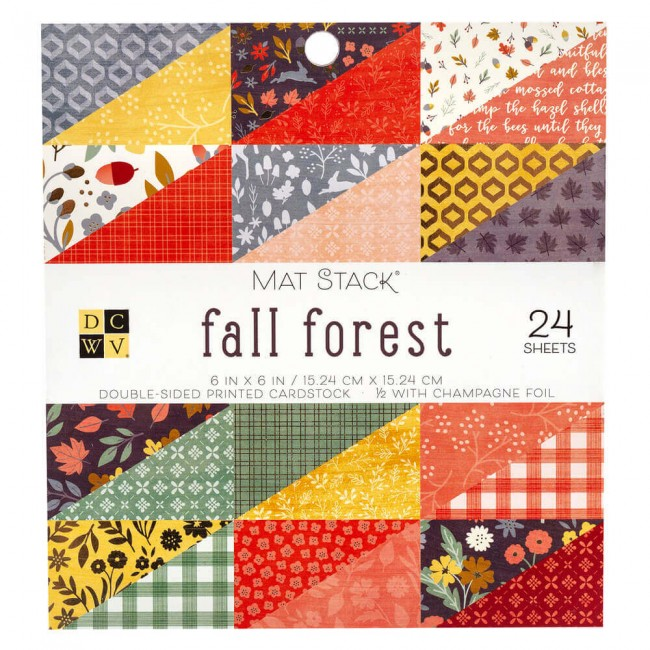 Stack Papiers Imprimés 6x6 Fall Forest