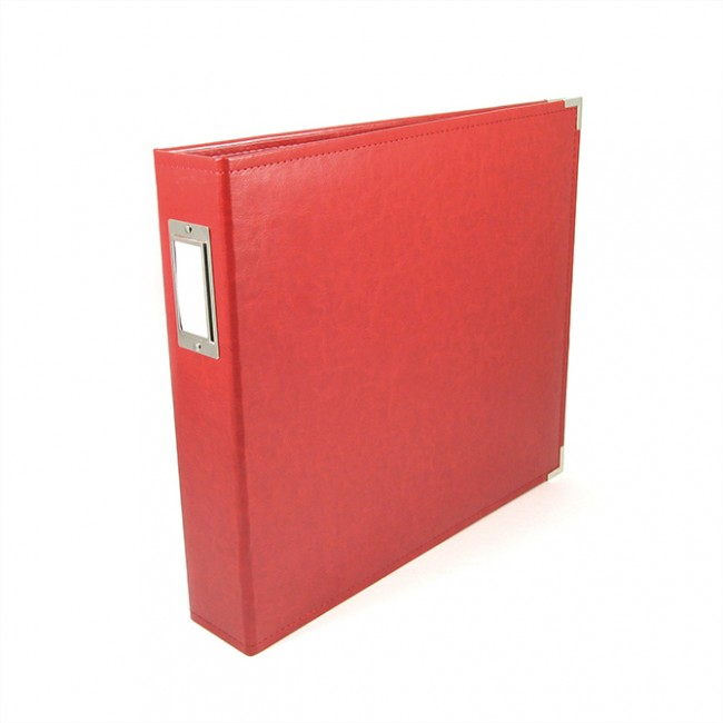 """Album 12"""" x 12"""" Faux Cuir Real Red"""