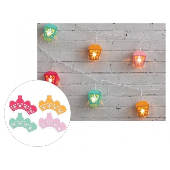 Bright 3D Garden Lanterns Die Cut Diy Party