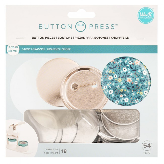 Lot de badges pour Button Press 58 mm