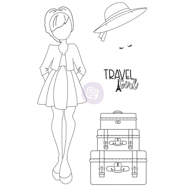 Tampon en Caoutchouc Traveling Girl Prima Doll Madeline