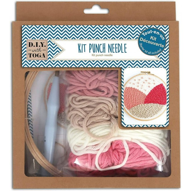 Kit pour broderie Punch Needle Iniciación