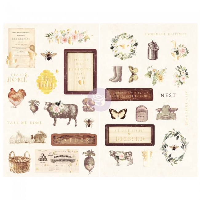 Chipboard Spring Farmhouse Icons